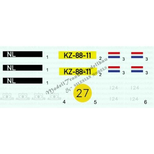 M109 A2-90 Nederland decals