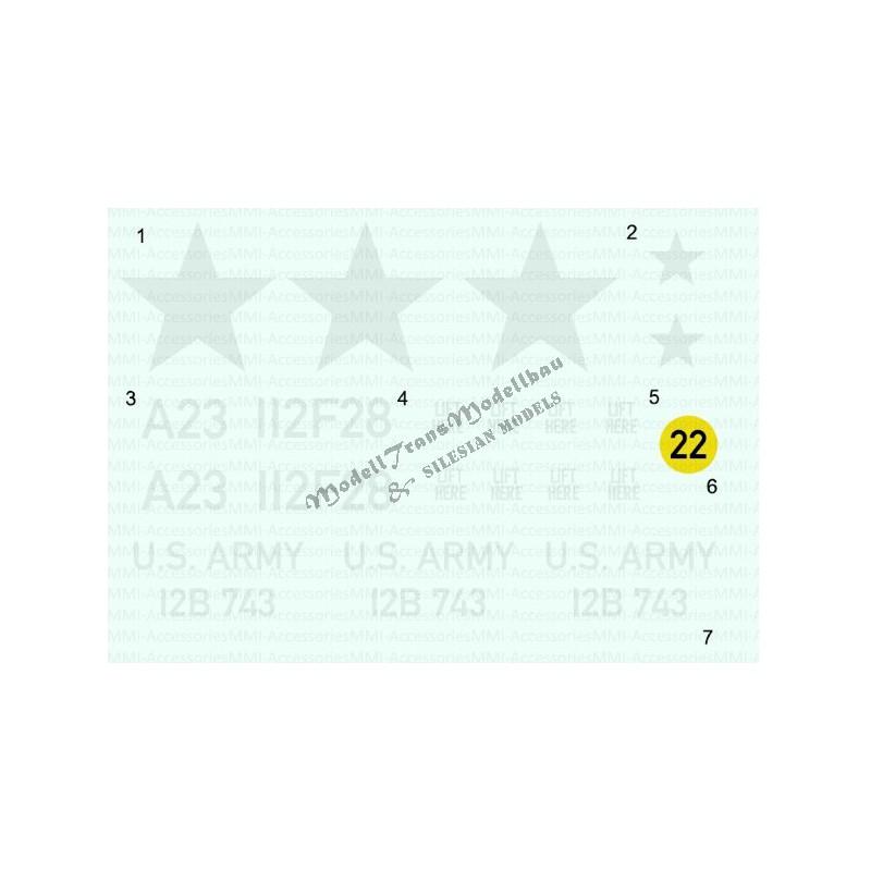 M108/M109 US Army (Vietnam) decals