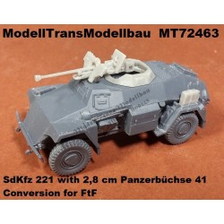 SdKfz 221 with 2,8 cm Panzerbüchse 41. Conversion for FtF.