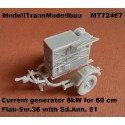 Current generator 8kW for 60 cm Flak-Sw.36 with Sd.Anh. 51