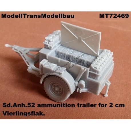 Sd.Anh.52 ammunition trailer for 2 cm Vierlingsflak.