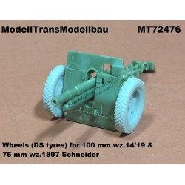 Correct wheels (DS tyres) for 100 mm wz.14/19 & 75 mm wz.1897 Schneider.