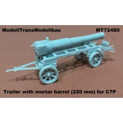 Trailer with mortar barrel 220 mm for C7P.