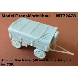 Ammunition trailer (40 mm Bofors AA gun) for C2P.