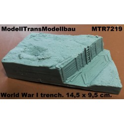 World War I trench. 14,5 x 9,5 cm.