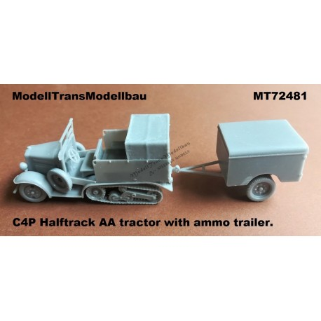 C4P Halftrack AA tractor with ammo trailer.