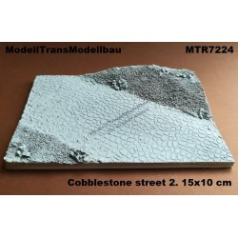 Cobblestone street 2. 15x10 cm