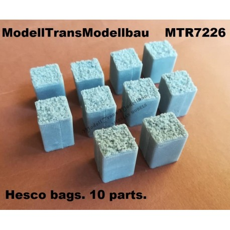 Hesco bags. 10 parts.