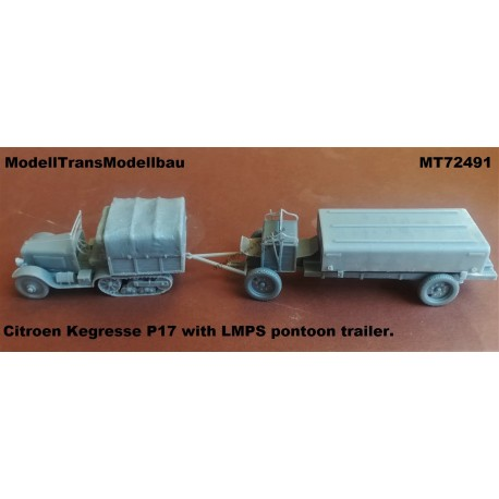 Citroen Kegresse P17 with LMPS pontoon trailer.