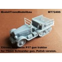 Citroen Kegresse P17 gun traktor for 75mm Schneider gun. Polish version.