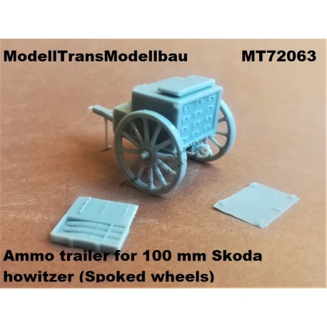 Ammo trailer for 100 mm Skoda howitzer (Spoked wheels) First to Fight.