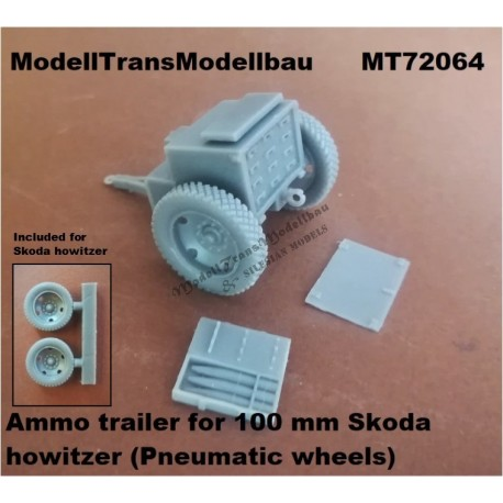 Ammo trailer for 100 mm Skoda howitzer (Pneumatic wheels) First to Fight.