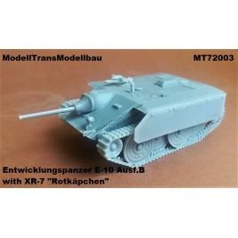 """Entwicklungspanzer E-10 Ausf.B with XR-7 """"Rotkäpchen""""."""