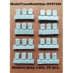 Modern jerry cans. 24 pcs.