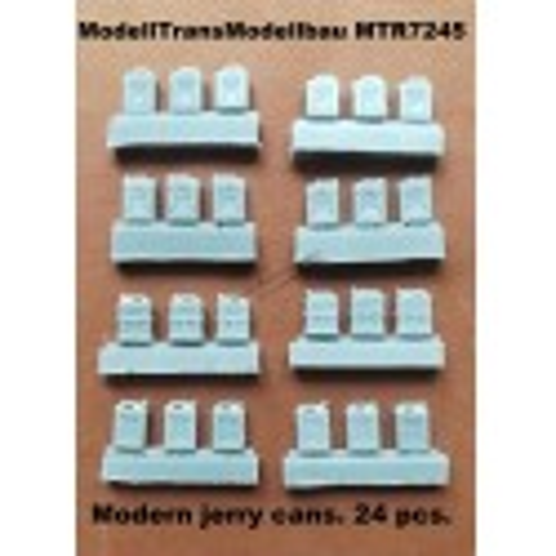 Modern jerry cans. 24 pcs.