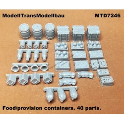 Food/provision containers. 40 pcs.