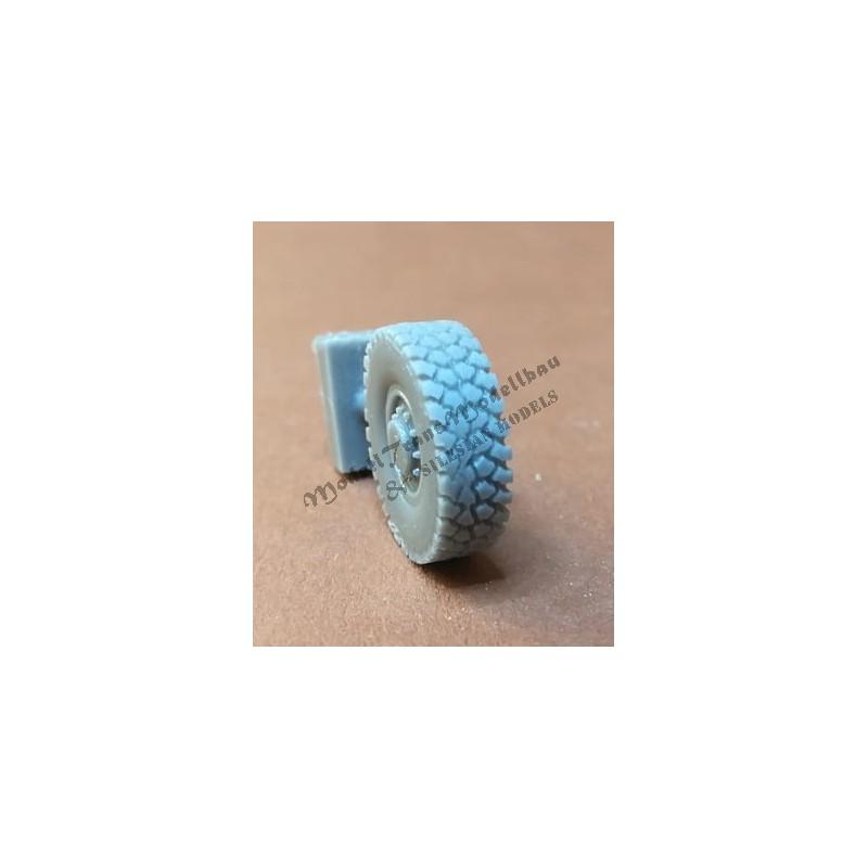 Sisu XA-180 wheels. Michelin pattern.