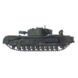 Churchill Mk.III AVRE with Mk.II cuppola & additional armor. Conversion for ESCI/Italeri.