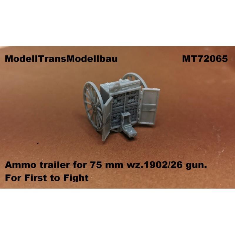 Ammo trailer for 75 mm wz.1902/26 gun.