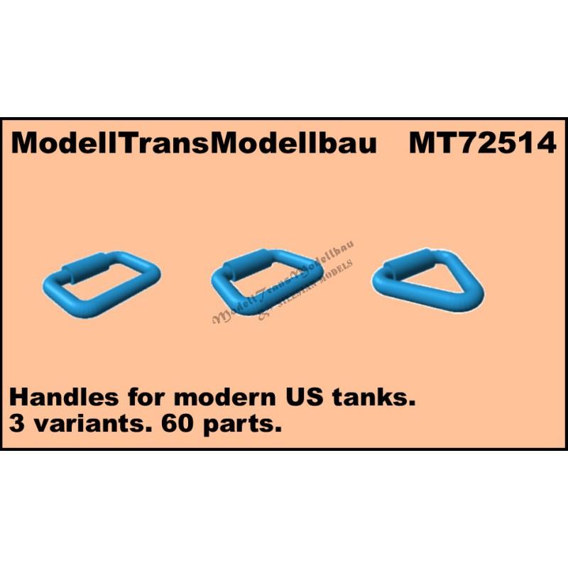Handles for modern US tanks. 3 variants. 60 parts.
