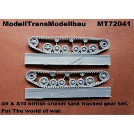 A9 & A10 british cruiser tank tracked gear set.