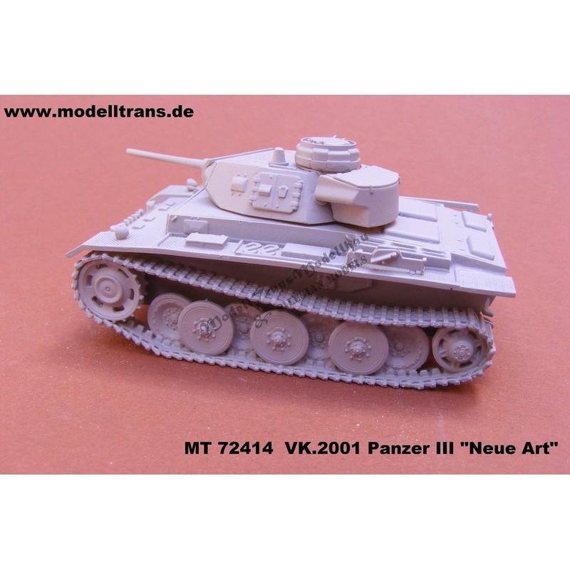 """VK.2001(D). Panzer III """"Neue Art"""""""