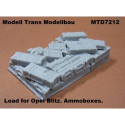 Load for Opel Blitz. Ammoboxes.