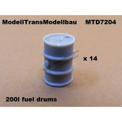 Fuel drums 200 l. 14 parts.