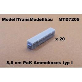 8,8 cm PaK Ammoboxes. 20 parts.