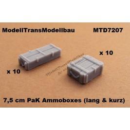 7,5 cm PaK Ammoboxes. 20 parts.