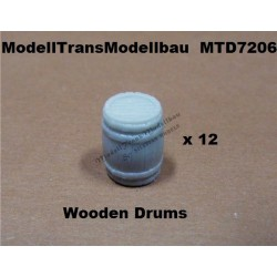 Wooden drums. 12 parts.
