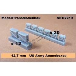 25 mm & 12,7 mm US Army Ammo Boxes (42 Pats)