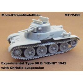 "Experimental Type 98 B ""KE-NI"" (1942) with Christie suspension."
