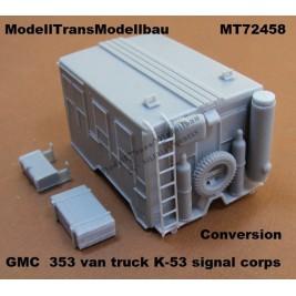 GMC CCKW 353 van truck K-53 signal corps.