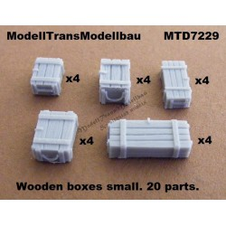 Wooden boxes. 20 parts (3 size)