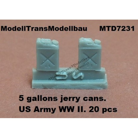 5 gallons jerry cans. US Army WW II. 20 pcs.