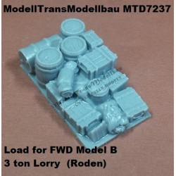 Load for FWD Model B. 3 ton Lorry.