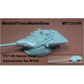 T57 US heavy tank.