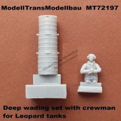 Deep wading set with crewman for Leopard tanks.