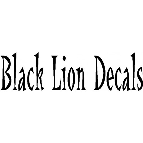 Black Lion Decals